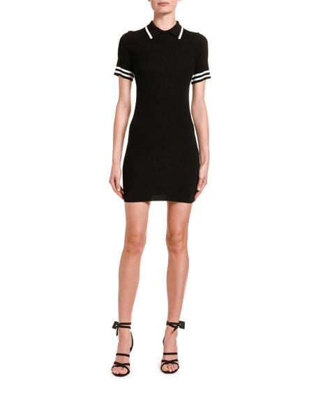 Jersey Short-Sleeve Polo Dress