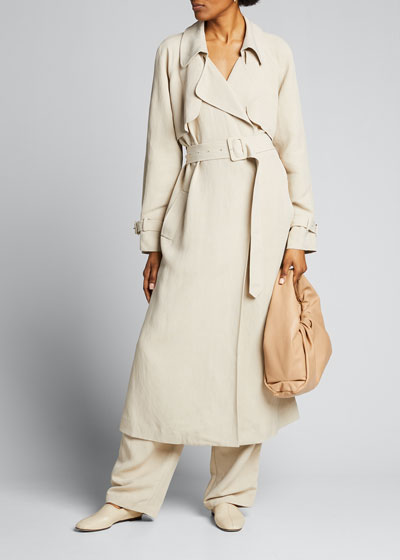 Lightweight Belted Trench Coat