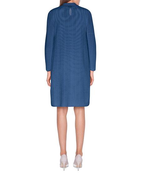 Ladder-Stitched Knit Dress