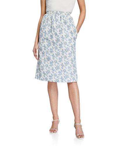 Ladies Floral Midi Skirt