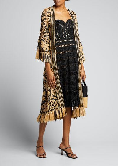Crochet Coat with Fringe
