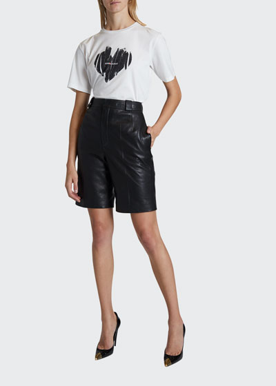 Leather Bermuda Shorts