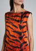 Dotar Tiger-Print Dress