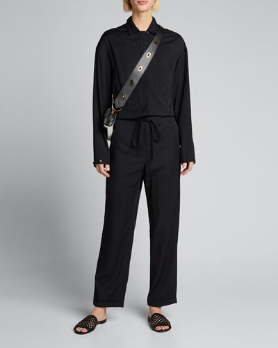 Angelina Jersey Shirt Jumpsuit