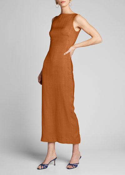 Sleeveless Midi Column Dress