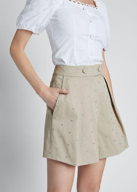 Tailored Rhinestone Shorts