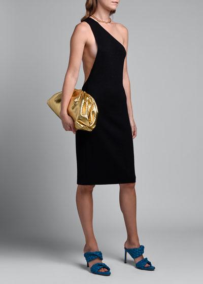 One-Shoulder Compact Frise Dress