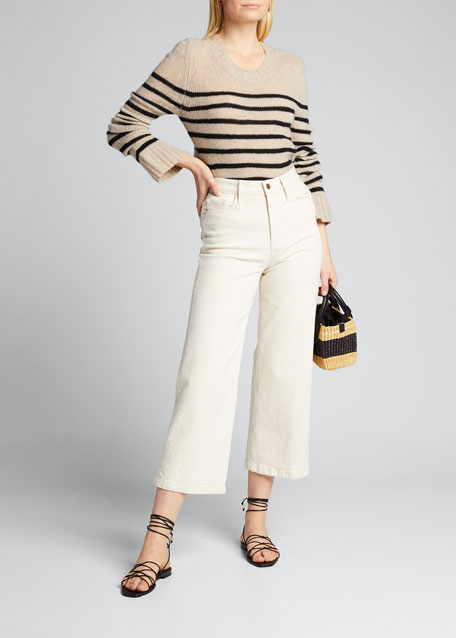 Image 1 of 1: Tilda Cashmere Striped Sweater