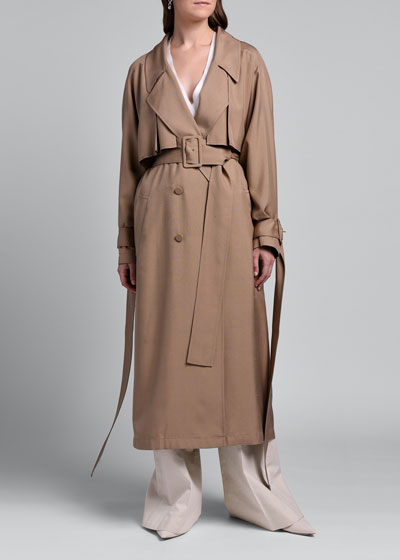 Lightweight Silk Trench Coat