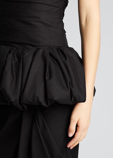 Gwen Twill Strapless Peplum Dress
