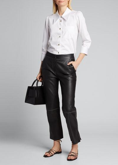 Kaylie Classic Poplin 3/4-Sleeve Shirt