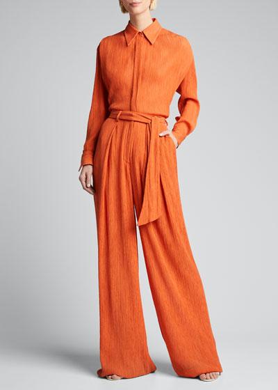 Thomazia Silk-Cotton Crepe Pants