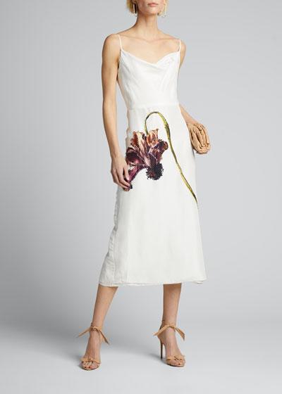 Floral Print Silk Habotai Day Dress