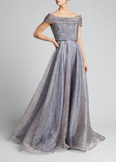 Shimmered Tulle Gown