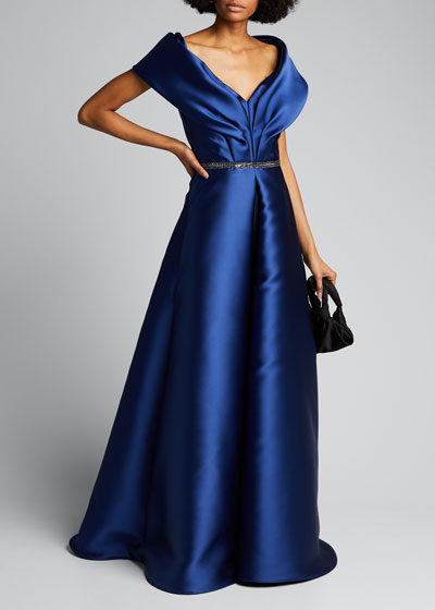 Portrait Collar Gown