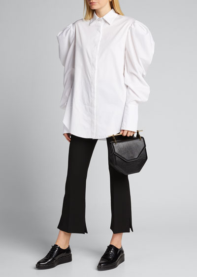 Poplin Pearl Pearl-Button Shirt