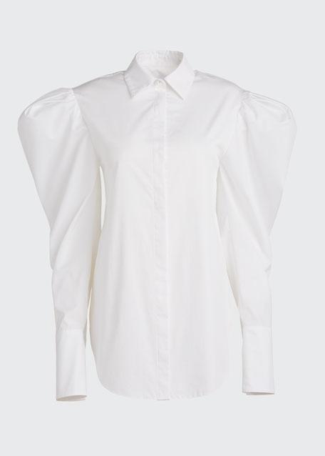 Poplin Pearl Pearl-Button Shirt