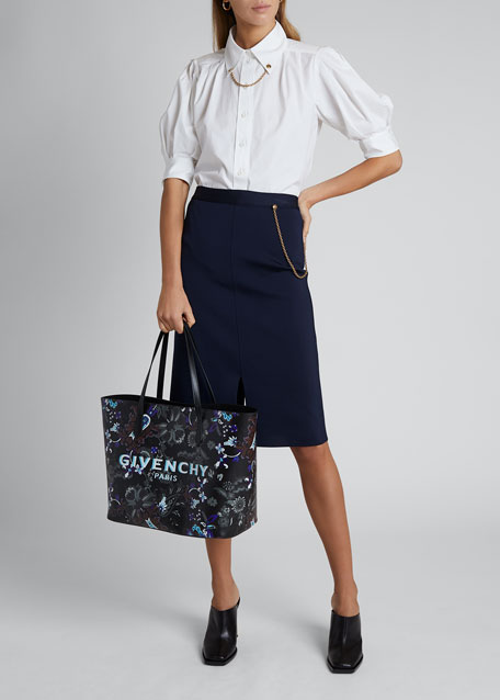 Chain-Front Pencil Skirt
