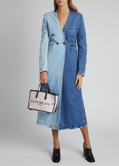 Two-Tone Denim Coat