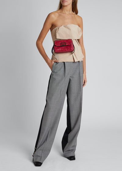 Houndstooth Straight-Leg Trousers