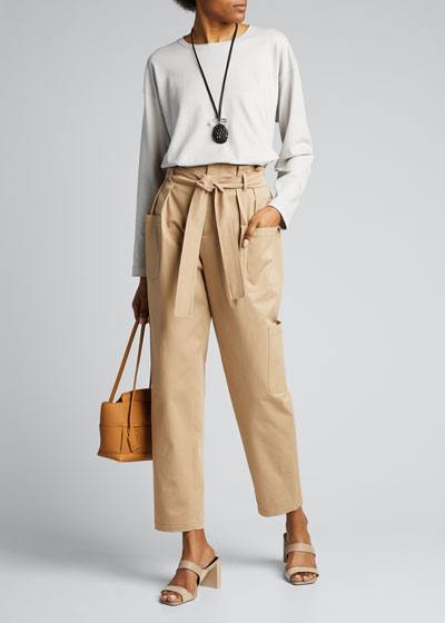 Pima Cotton Long-Sleeve Top