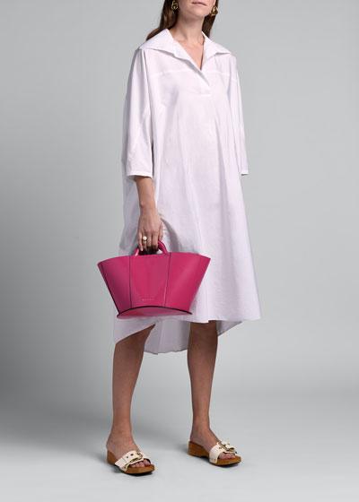 3/4-Sleeve Shirtdress