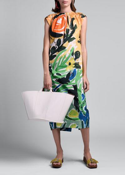 High-Neck Sleeveless Dress