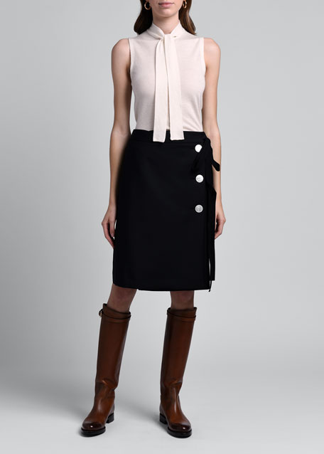 Compact Twill Skirt
