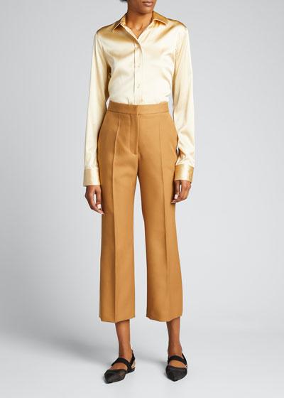 Straight-Leg Cropped Pants