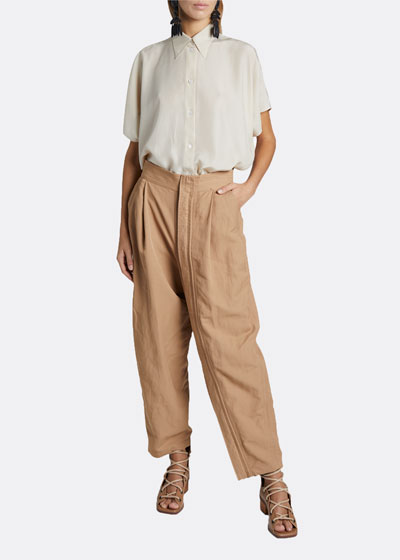 Slouchy Pleated Trousers