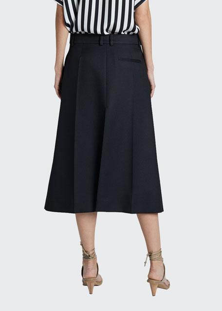 Midi Skirt with Front Slit