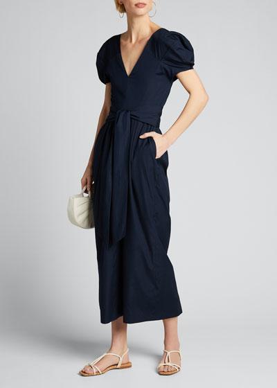 Arethusa Puff-Sleeve Dress