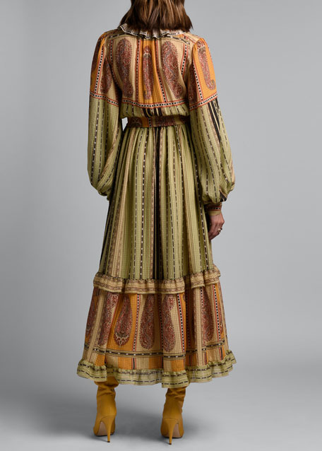 Striped Peasant Dress
