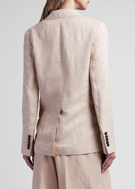 Viscose-Linen Blazer Jacket