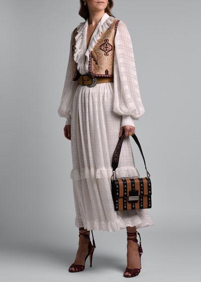 Embroidered Jacquard Vest