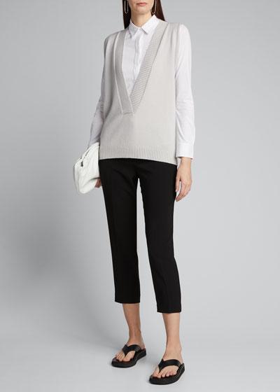 Cashmere V-Neck Sleeveless Sweater Vest