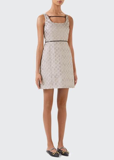 Metallic Heritage GG Sleeveless Dress