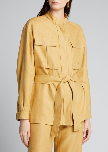 Giacca Linen Utility Jacket