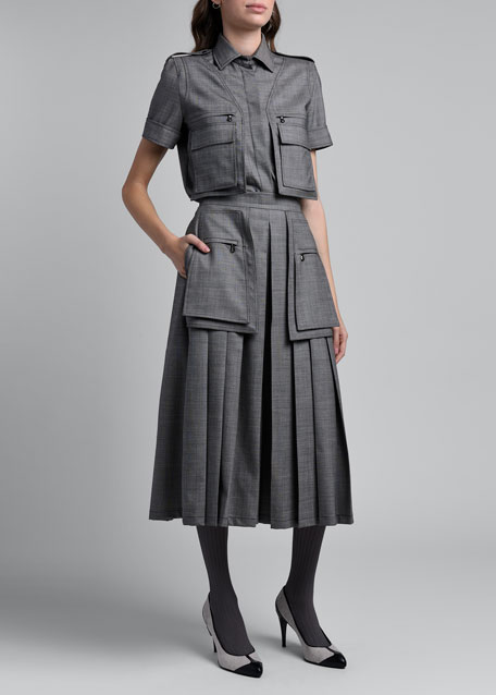 Image 1 of 1: Marmo Pleated Culottes