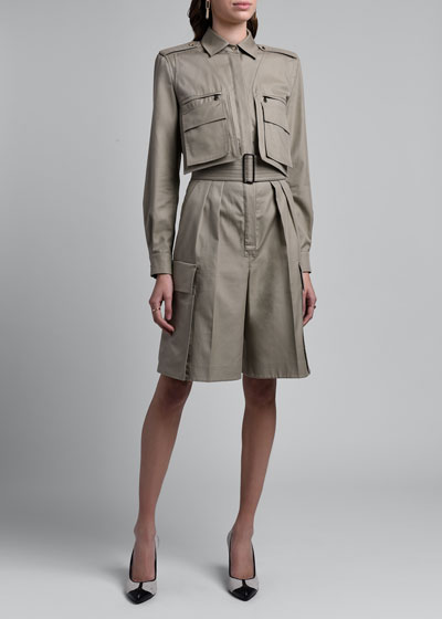 Anzio Trench-Style Jumpsuit