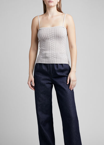 Cable-Knit Wool Cami