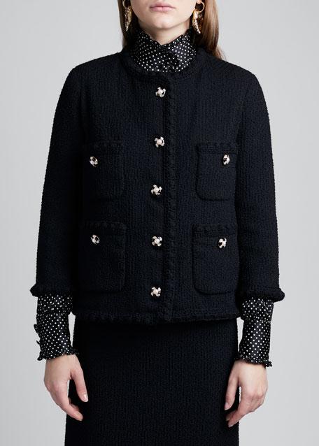 Tweed Crochet Jacket