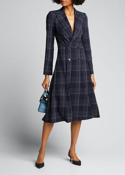 Zoie Plaid Wool Coat Dress