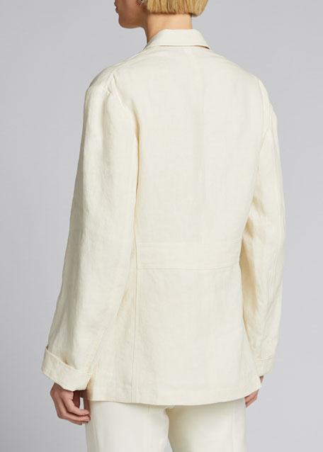 Demi Linen Chore Utility Coat