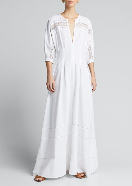 Concha Lace-Trimmed Tunic Dress