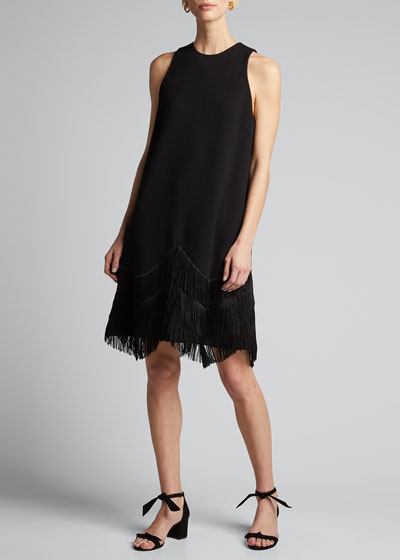 Fringe A-Line Cocktail Dress