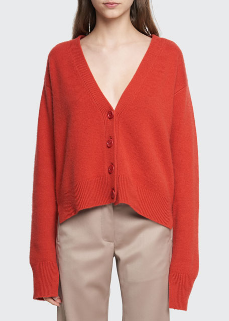 Image 1 of 1: Wool-Cashmere Cardigan Sweater