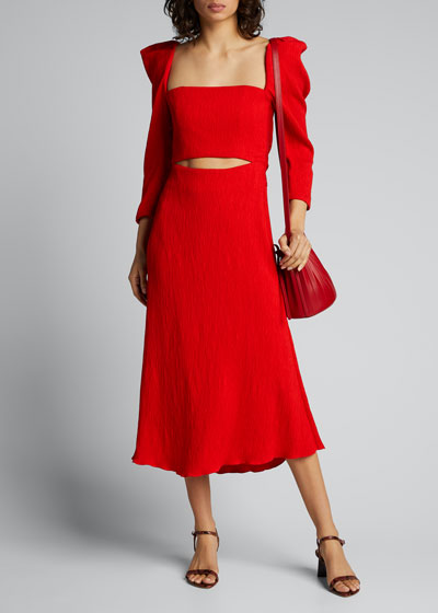 Lady of Heaven Crepe Cutout Dress