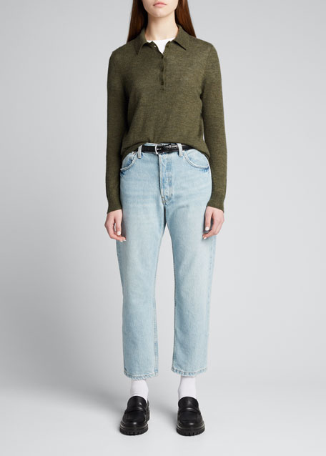 Image 1 of 1: Cashmere Polo Sweater