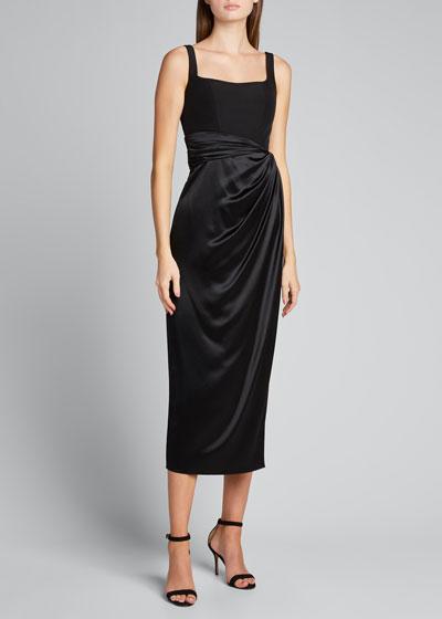 Bustier Satin Skirt Silk Dress